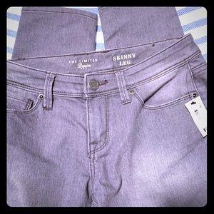 The Limited Denim Skinny NWT grey size 6